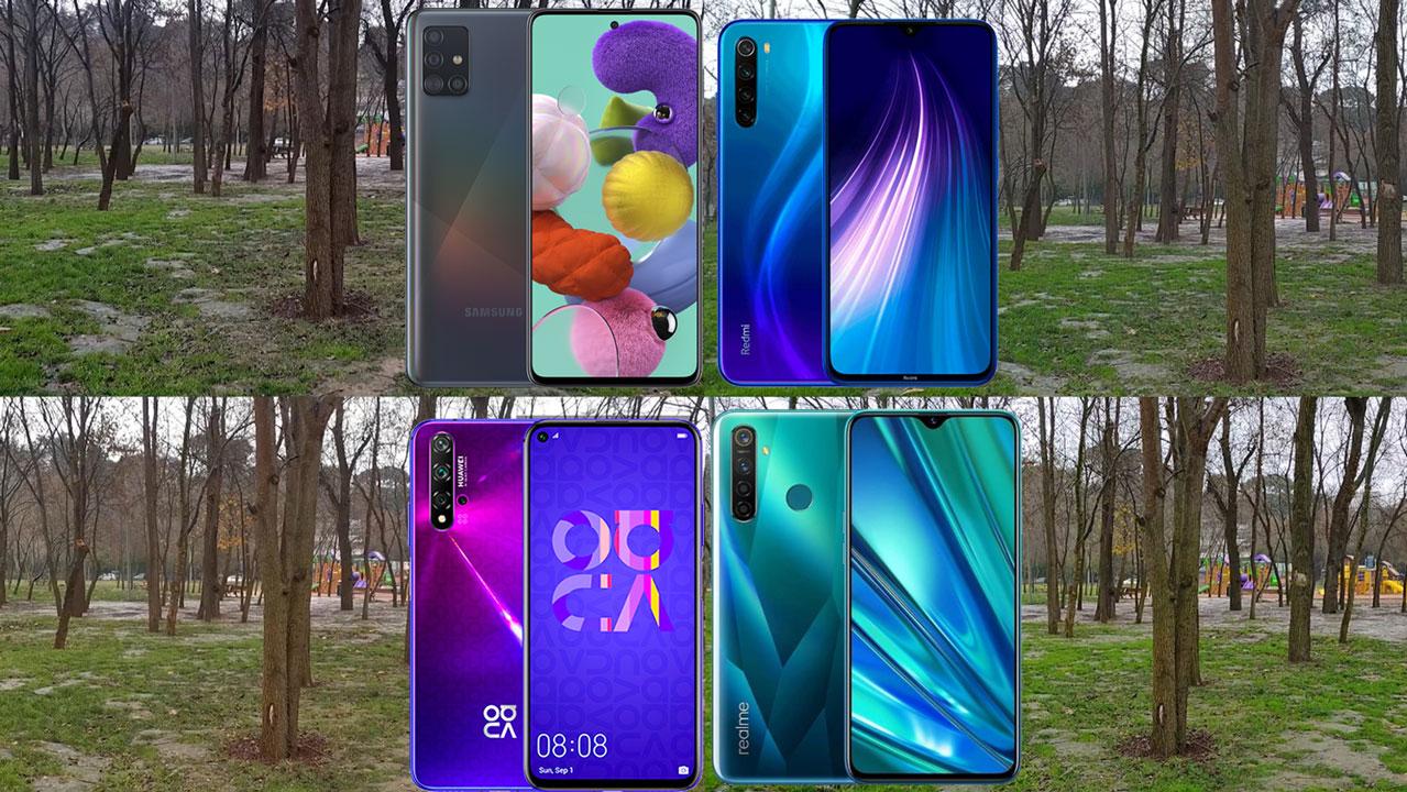 Samsung Galaxy A51, Realme 5 Pro, Redmi Note 8, Nova 5T video kıyaslama