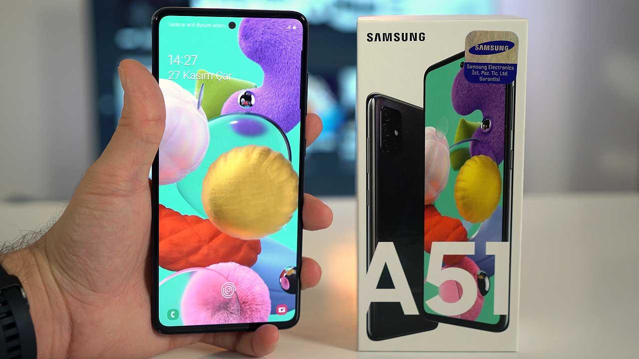 Samsung Galaxy A51 kutu açılışı