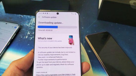 Samsung, S20 serisi için kamera güncellemesi üzerinde çalışıyor