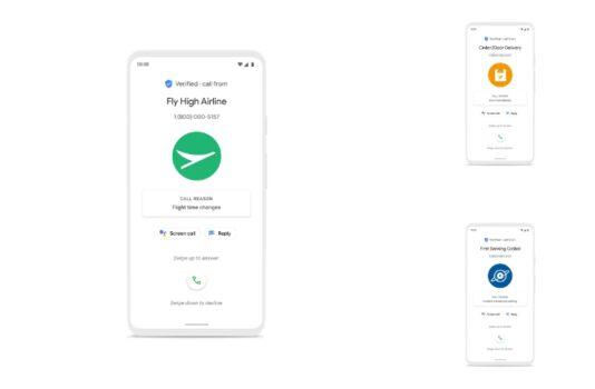Google Phone'dan bazı ekran görüntüleri.