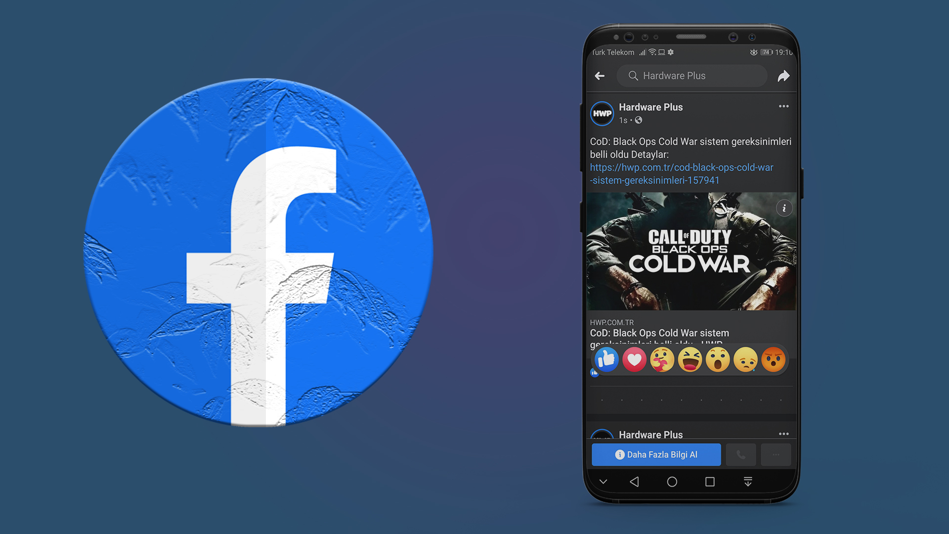 Facebook karanlık mod android