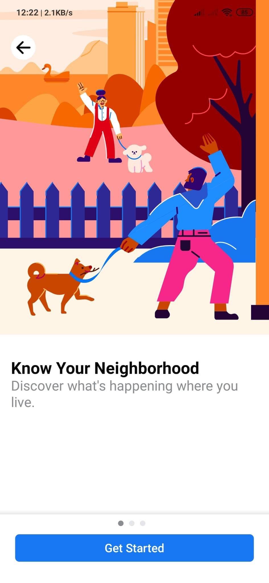 Facebook Neighbourhood