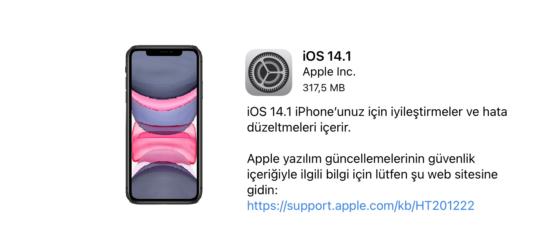 iOS 14.1 ve iPadOS 14.1