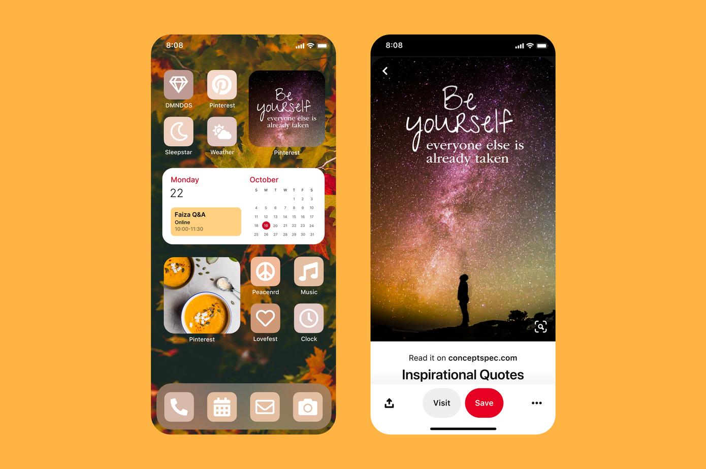 Pinterest, iOS 14 widget'ları ile arayüzü daha 'estetik' hale getiriyor!