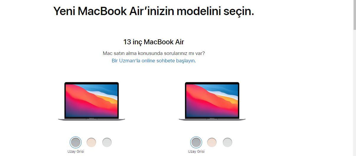 13 inç MacBook Air Türkiye fiyatı