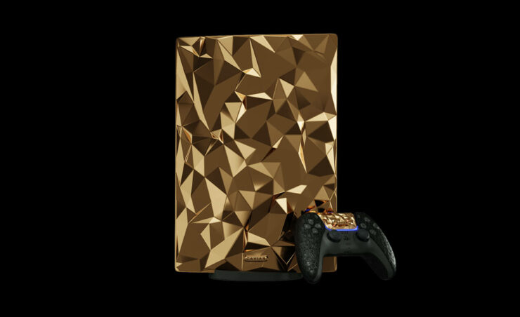 Caviar Golden Rock - Altın Kaplama PS5