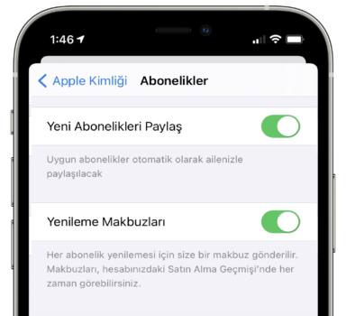 App Store, aile paylaşımı