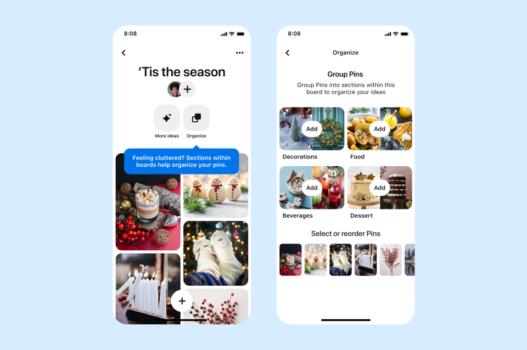 Pinterest, panoları kişiye özel düzenleme seçeneği sunuyor
