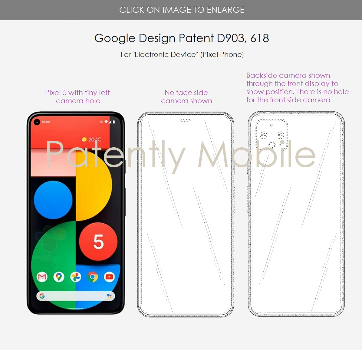 Google Pixel 6 ekran altı kamera teknolojisi