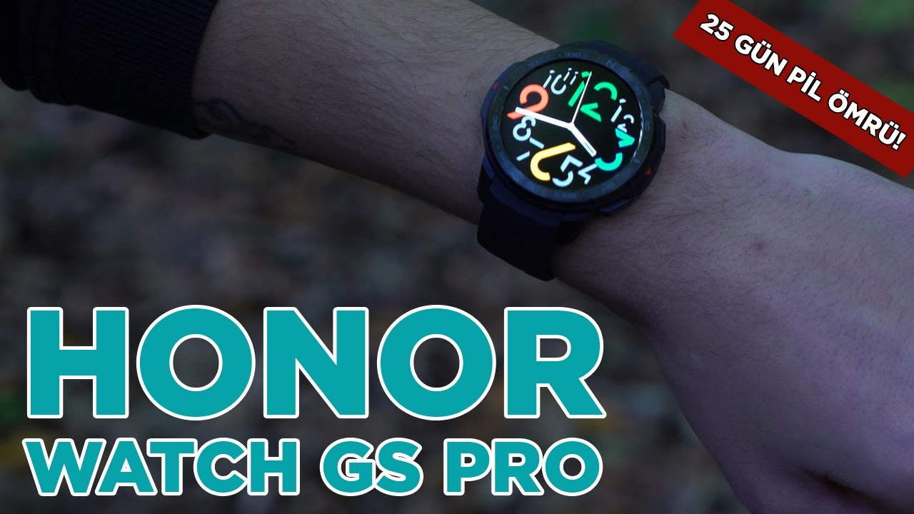 Honor Watch GS Pro | 25 gün pil ömrü, çift GPS!