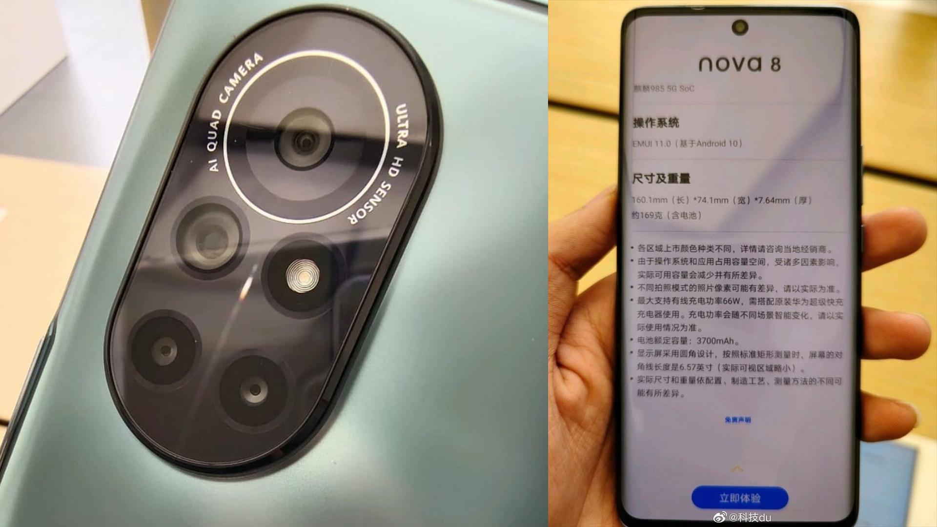 Huawei Nova 8 özellikleri