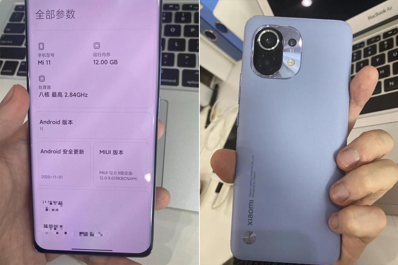 Xiaomi Mi 11 tasarım
