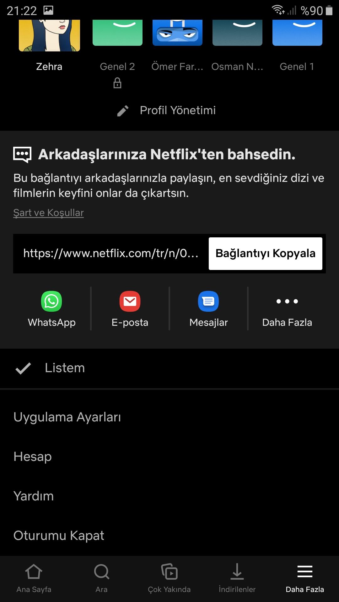 Netflix izlemeye devam et silme