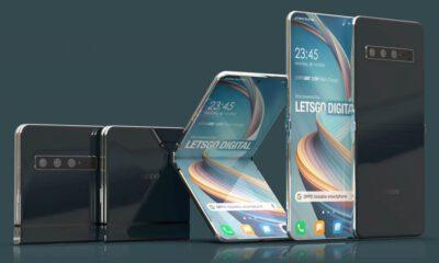 Oppo, dikey olarak katlanabilen bir telefon patenti aldı!