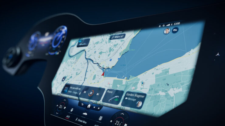 Mercedes EQS'in MBUX Hyperscreen Ekranı