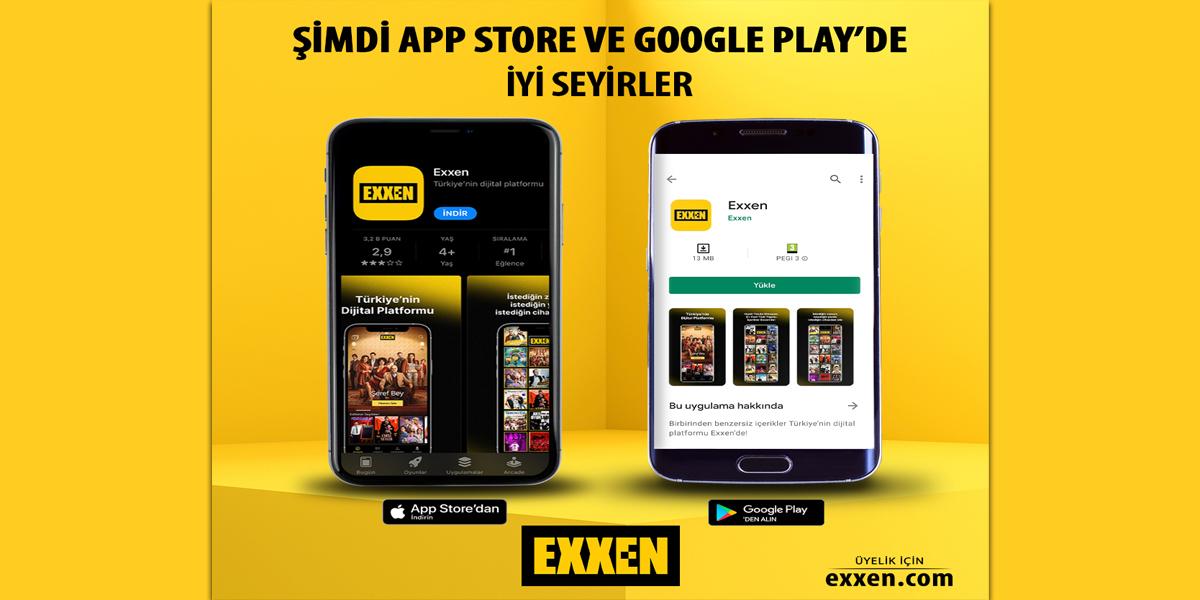 Exxen mobil uygulaması