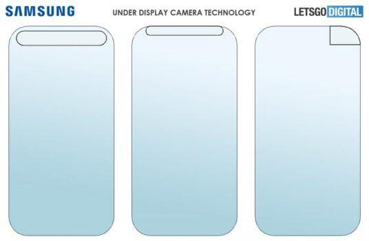 Samsung ekran altı kamera patenti