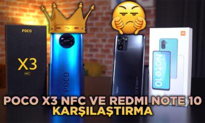 Poco X3 NFC vs Redmi note 10 karsilastirma final thumbnail