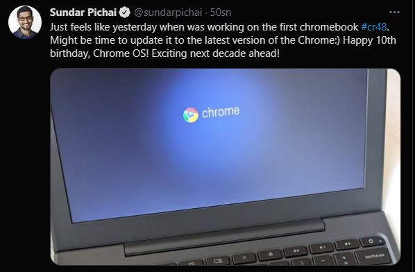 Chrome Os, Google