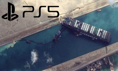 Süveyş Kanalı'nda sıkışan gemi