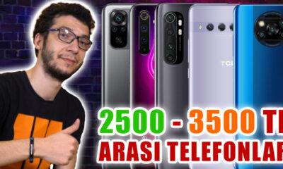 2500 - 3500 TL arası en iyi akıllı telefonlar (2021)