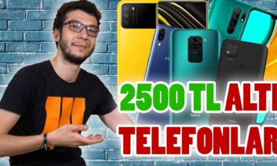 2500 TL altı en iyi akıllı telefonlar (2021)