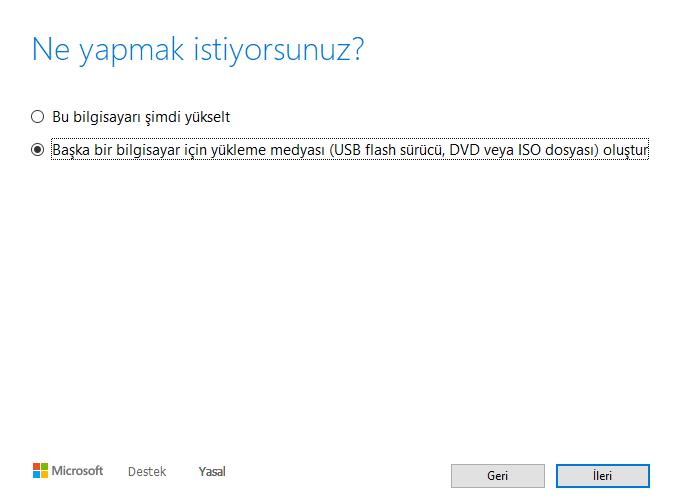 windows 10 format atmak