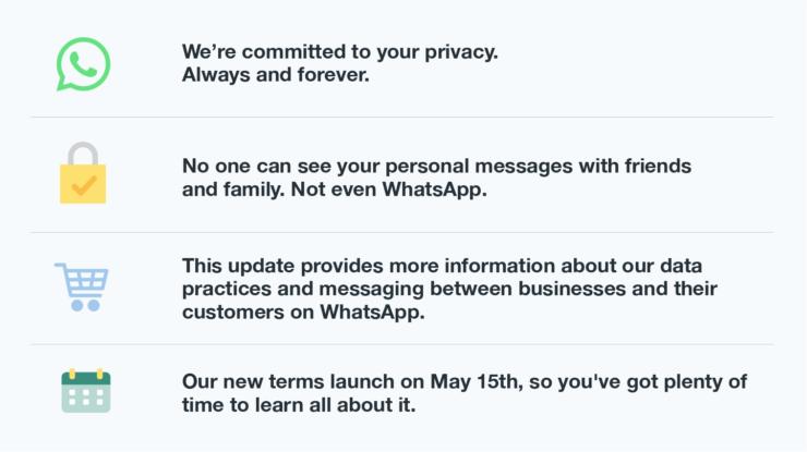 whatsapp gizlilik sözleşmesini kabul etmezsek ne olur?