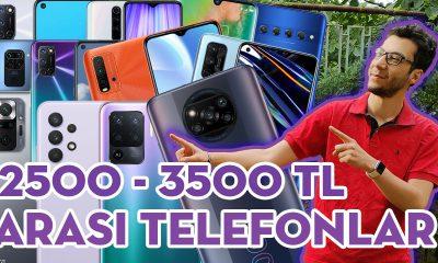 2500 - 3500 TL ARASI EN İYİ TELEFONLAR (Haziran 2021)