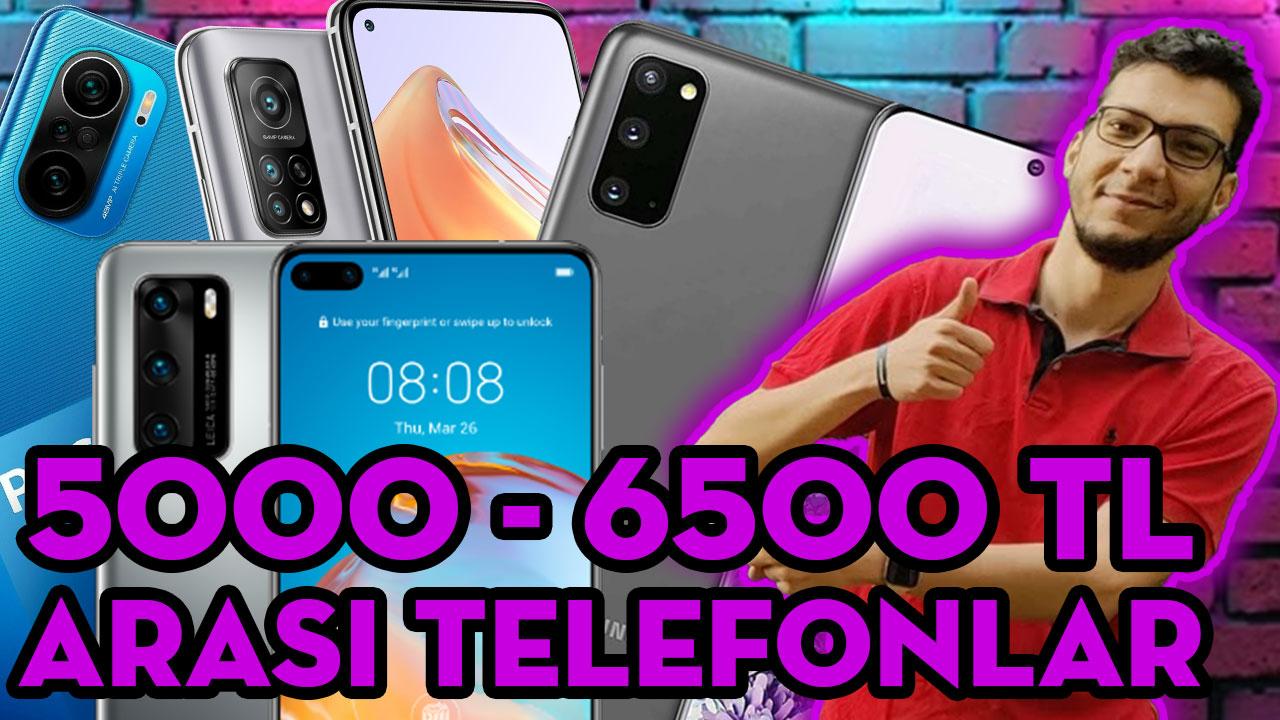 5000 - 6500 TL ARASI EN İYİ TELEFONLAR (Haziran 2021)