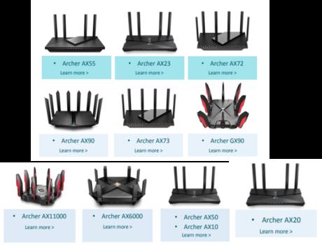 wifi 6 router ailesi
