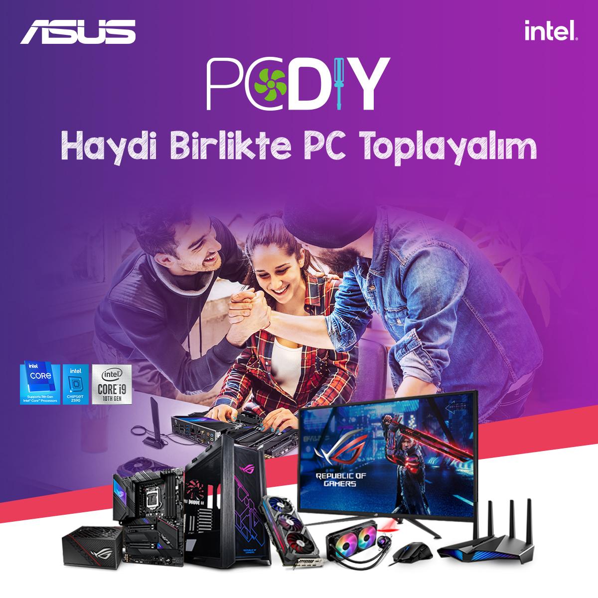 ASUS PC DIY PC toplama etkinliği