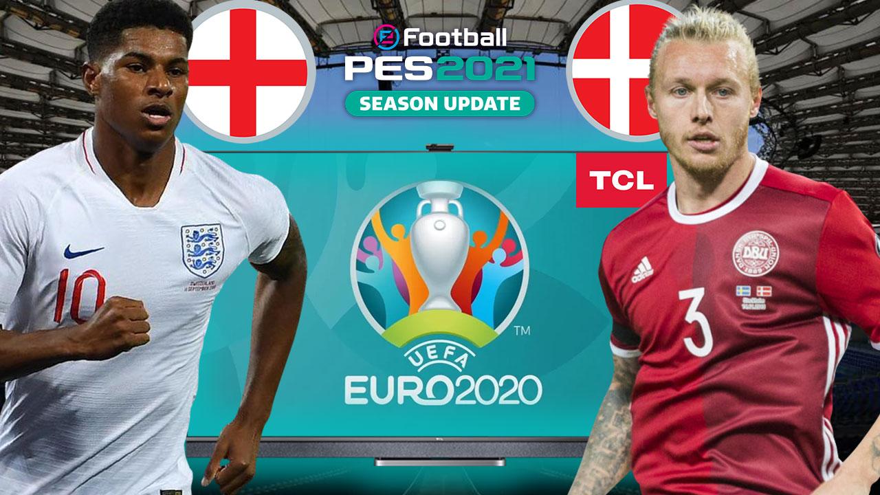 PES 2021'de İNGİLTERE vs. DANİMARKA | PES 2021 HEDİYELİ! | TCL 4K TV P725
