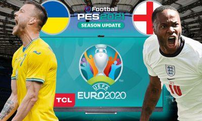 PES 2021'de UKRAYNA vs. İNGİLTERE | PES 2021 HEDİYELİ! | TCL QLED 4K TV C725