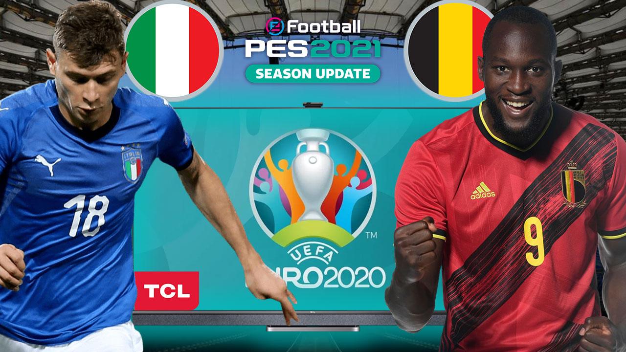 PES 2021'de İTALYA vs. BELÇİKA | PES 2021 HEDİYELİ! | TCL 4K HDR TV P725