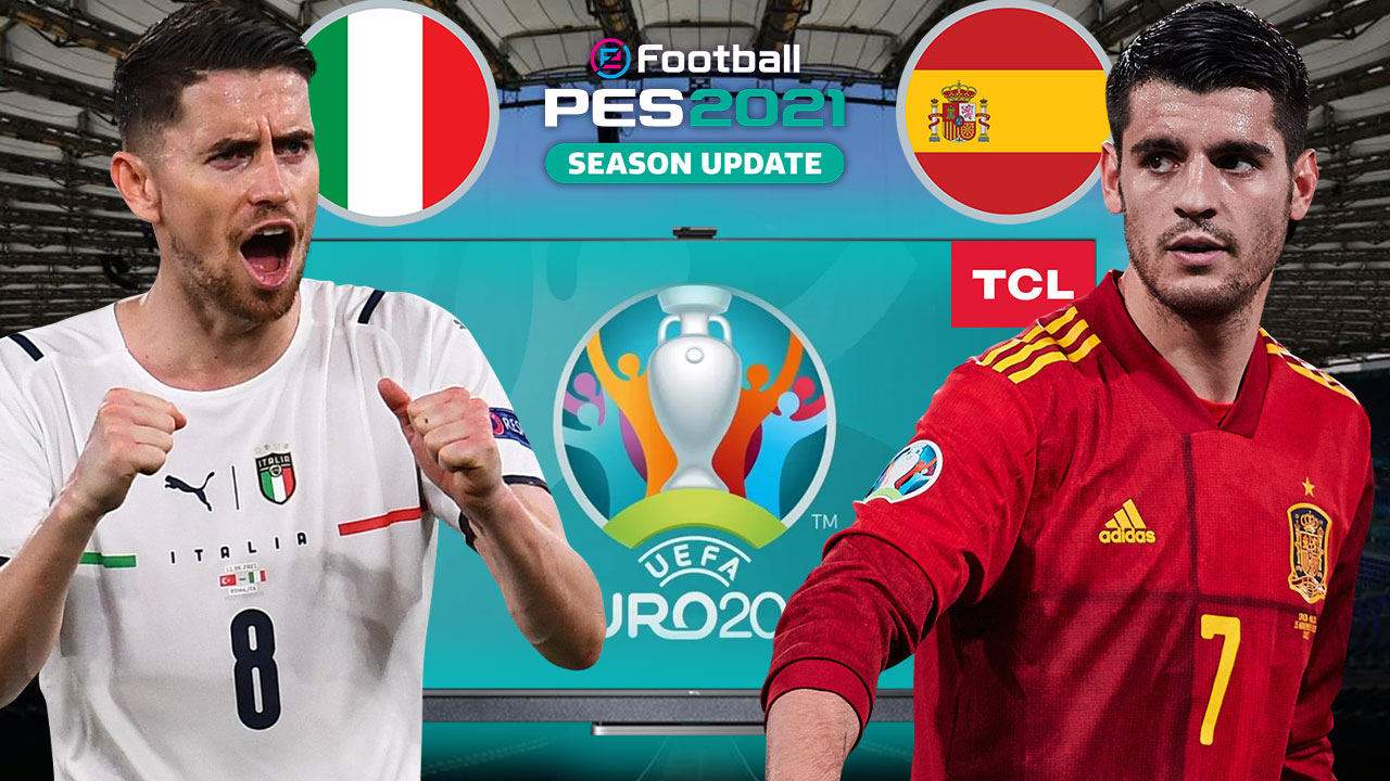 PES 2021'de İTALYA vs. İSPANYA | PES 2021 HEDİYELİ! | TCL QLED 4K TV C725
