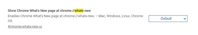 Chrome Yenilikler