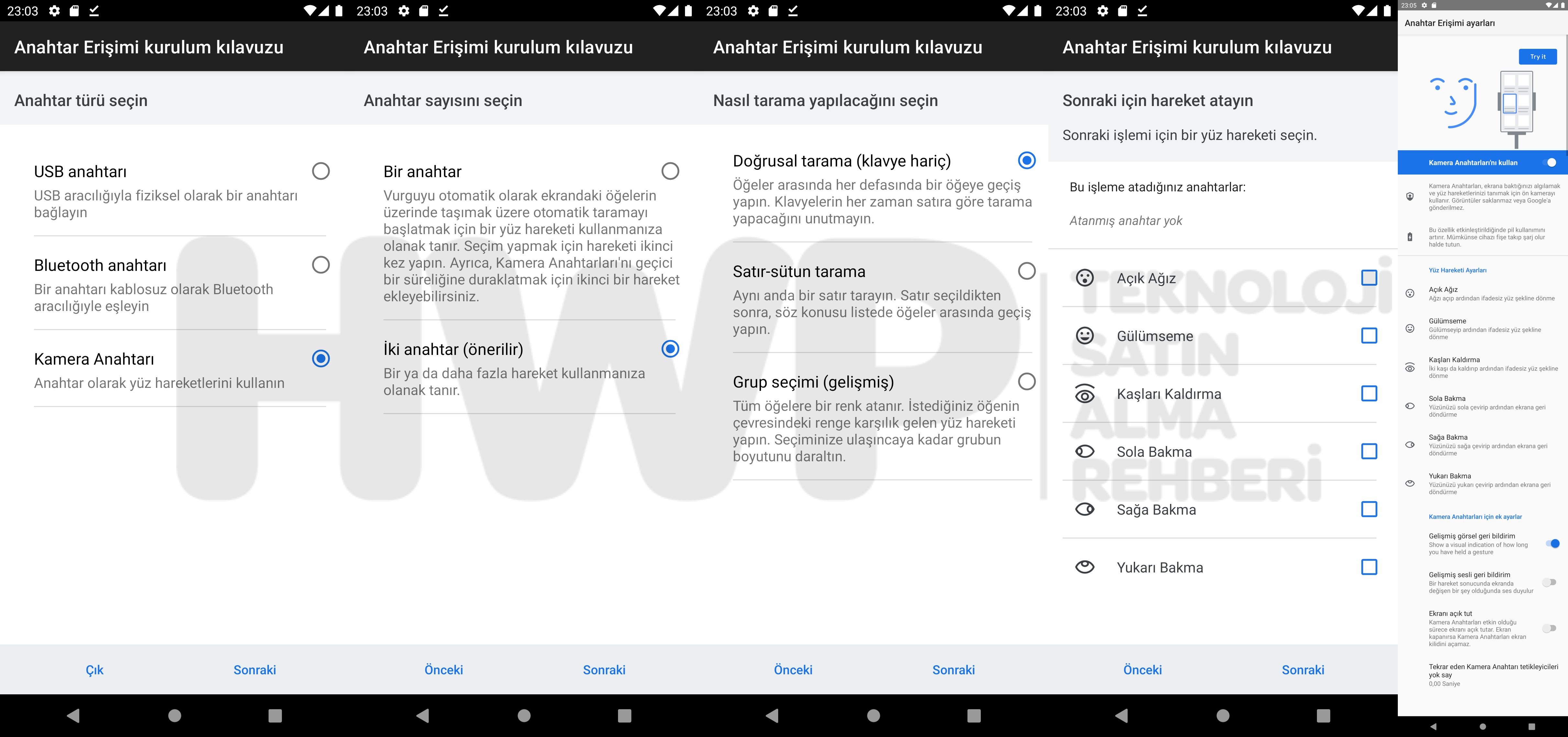 Android Yüz İfadeleri
