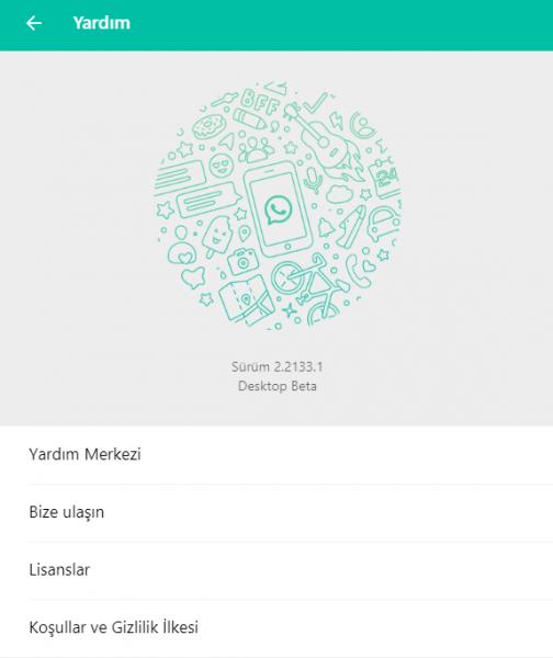 WhatsApp Desktop Sürüm