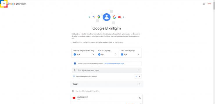 Google Etkinlik 1