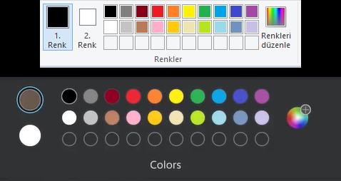 Paint Renk Seçici
