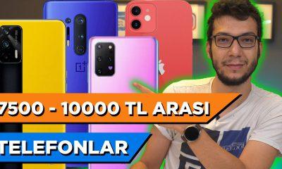 7500 - 10000 TL ARASI EN İYİ TELEFONLAR (EYLÜL 2021)
