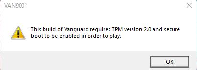 Windows 11 TPM 2.0 Valorant