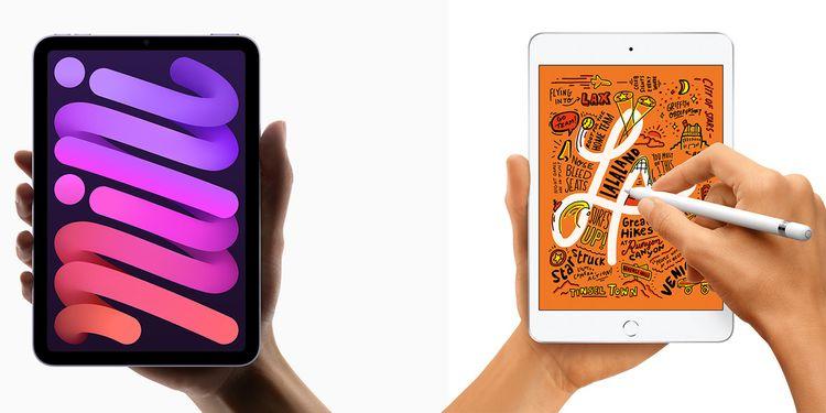 iPad mini 6 ve iPad mini 5 tasarım